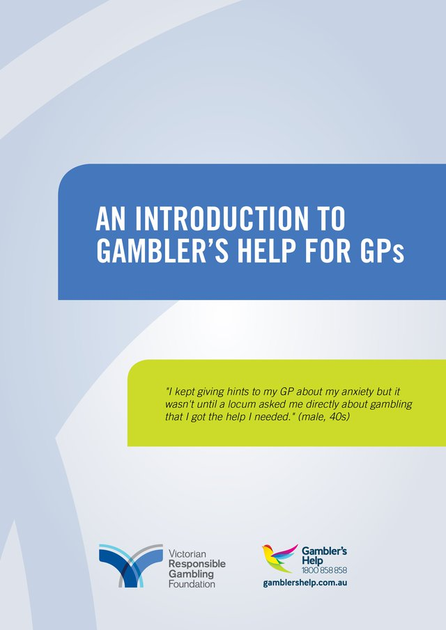 Introduction to Gambler's Help for GPs