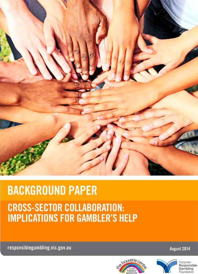 Cross-sector collaboration: Implications for Gambler's Help