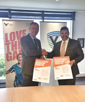 Cricket Victoria Signing the charter
