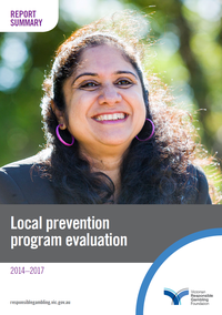 Cover of the Local Prevention Program evaluation summary