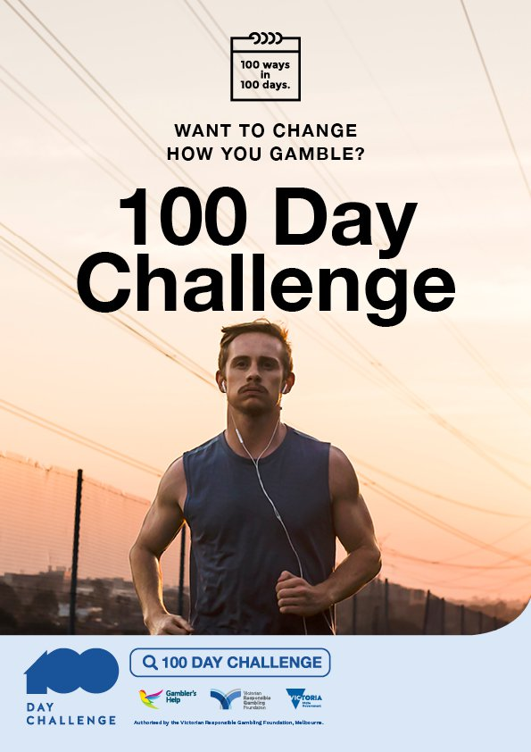 100 Day Challenge A3 poster - male