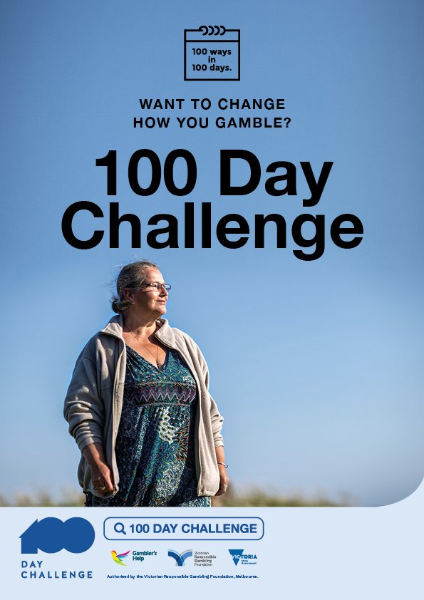 100 Day Challenge A3 poster - female