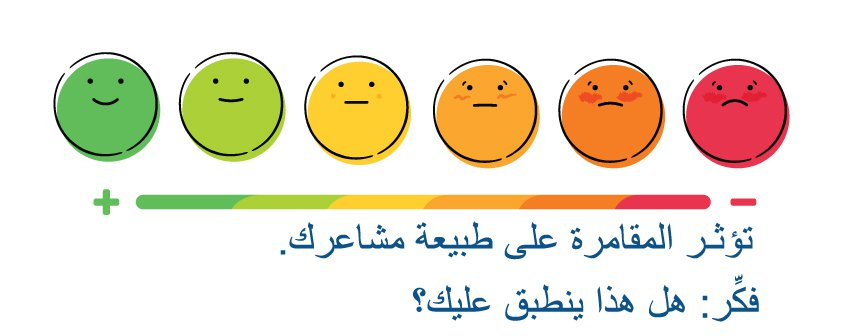 Gambling can affect how you feel. Think... is that true for you? [Arabic]