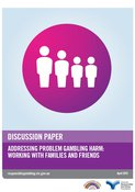 Cover of the addressing problem gambling harm discussion paper