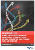 Cover of the risk factors for problem gambling background paper