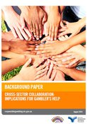 Cover of the cross-sector collaboration background paper