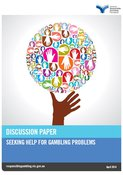 Cover of the seeking help for gambling problems discussion paper