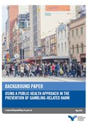 Cover of the using a public health approach in the prevention of gambling-related harm background paper